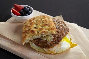 Breakfast sandwich available at Waypoint Kitchen